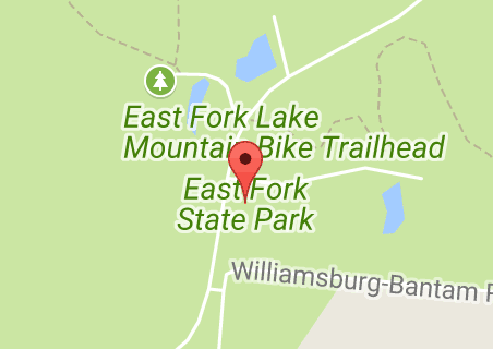 State Parks Ohio Map.East Fork State Park Ohio