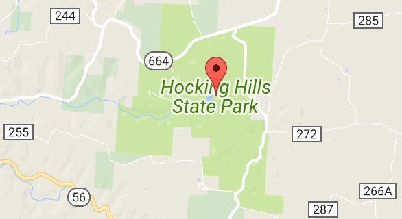 Hocking Hills State Park Map View